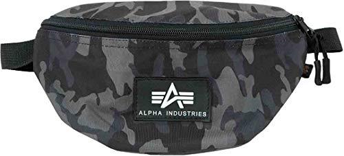 Alpha Industries Rubber Print Gürteltasche Schwarz Camouflage