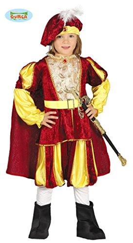 mittelalterlicher Märchen Prinz Karneval Motto Party Kostüm für Kinder Gr. 98 - 128, Größe:110/116 (Kind Kostüme, Märchen)