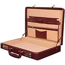 Hardcraft® Leather Maroon Briefcase
