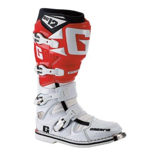 Gaerne, stivali da motocross, SG 12, Unisex, bianco/rosso, 45