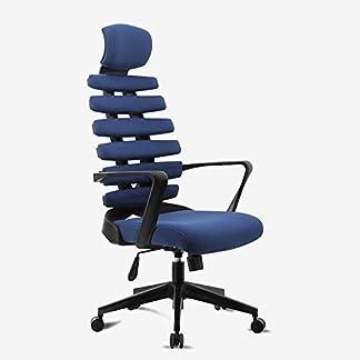 RUNXIAN Silla de la computadora Levante Home Care La ergonomía de la cintura del hueso de pescados trasero de la silla de oficina Silla giratoria Estudio Asiento for sala de juegos for sillas de Desca