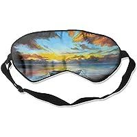 Eye Mask Eyeshade Ship Lake Painting Sleep Mask Blindfold Eyepatch Adjustable Head Strap preisvergleich bei billige-tabletten.eu