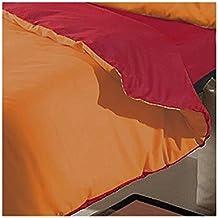 Sabanalia - Funda Nórdica Reversible Combina (Saco reversible) - Cama 150, Rojo-Naranja
