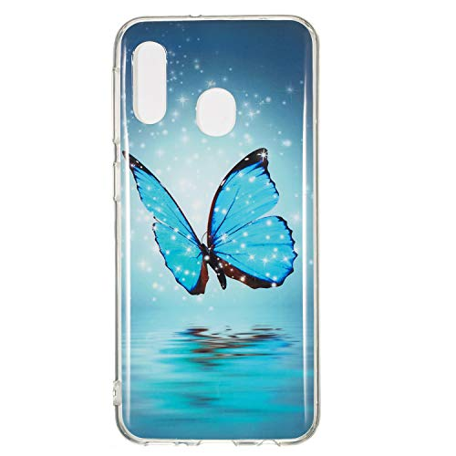 Bling Glitter Bumper für Samsung A10,Dünn Slim Schön Durchsichtiges Kristal Clear Weich Touch Klar Transparent Flexible Gel Gomma TPU Silikon