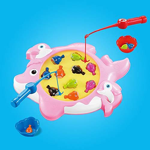 Sulifor Angeln Spielzeug, Spaß Herausforderung Magnetische Spielzeug Angeln Werkzeuge Automatische Musik Fisch Spiel Spielzeug für Kinder