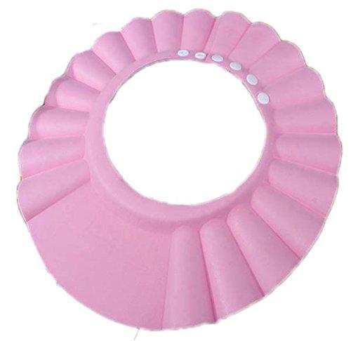 Oyedens Champú Ducha BañO BañO Cap Hat Para BebéS Protector De Ojos Impermeable Ajustable Suave Gorro Sombrero (para los niños de 0-6 años ',