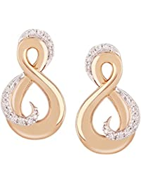 TBZ - The Original 18KT Gold and Diamond Stud Earrings for Women