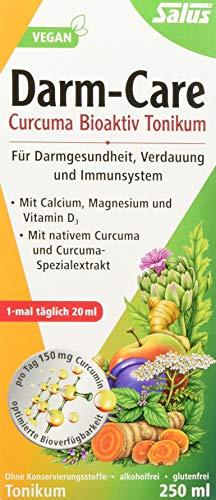 Salus Darm-Care Curcuma Bioaktiv Tonikum - für Darmgesundheit, Verdauung und Immunsystem - mit Magnesium, Calcium und Vitamin D3 - vegan - 250 ml -