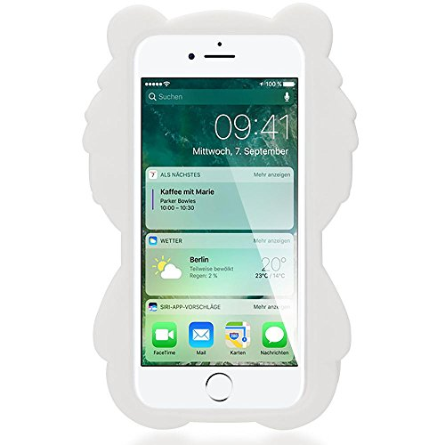 iPhone 8 / 7 3D Hülle Handyhülle von NICA, Dünnes Silikon Cartoon-Case Cover Stoßfeste Anti-Rutsch Schutzhülle, Backcover Handy-Tasche Bumper Phone Etui für Apple iPhone-7 / 8, Designs:Boys Tears White Bear