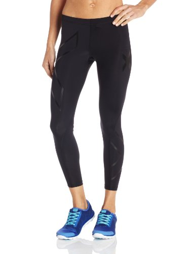 2Xu Compression Tights - Pantalones de compresión de running para mujer, color negro, talla L