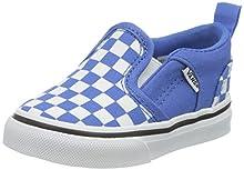 Vans Asher V Toddler, Scarpe da Ginnastica Unisex-Bambini, Checkerboard Nebulas Blue/White, 25 EU