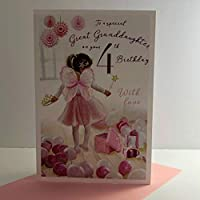 ICG Special Great Granddaughter 4th Age 4 Birthday Card - Fairy