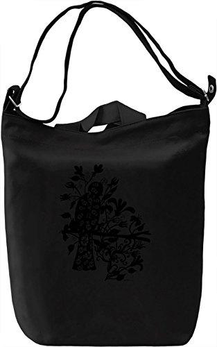 Queen Black Bird Bolsa de mano Día Canvas Day Bag| 100% Premium Cotton Canvas| DTG Printing|
