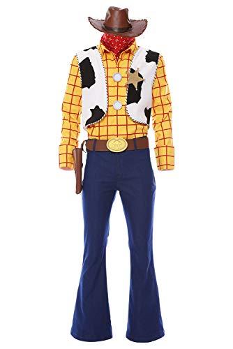 RedJade Spielzeuggeschichte Woody Cowboy Outfit Cosplay Kostüm Herren M