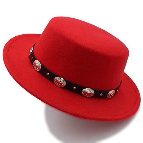 Sehr weich und angenehm zu tragen Red Cool Western Cowboy Hüte Männer Sonnenblende Kappe Frauen Reise Western Hut Chapeu Cowboy Reitmütze