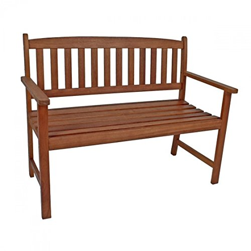 nxtbuy Gartenbank PROMOTION aus Holz mit 110 cm Länge stabiler Outdoor 2-Sitzer witterungsbeständig mit geölter Oberfläche
