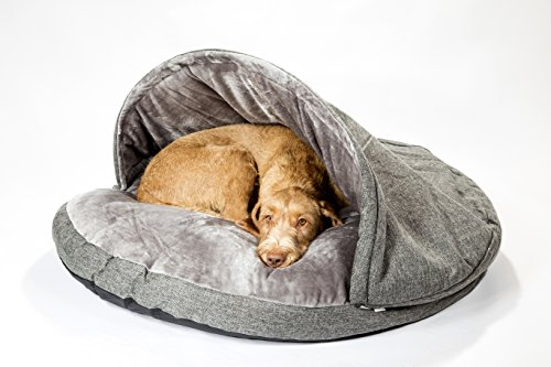 "Collared Creatures Dog Cave Bed, Dog Bed, Extra Large 114cm (45"") Grey 2"