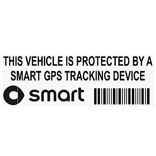 Platinum Place Fensteraufkleber, PPSMARTGPSBLK, GPS, Schwarz, mit Schriftzug in englischer Sprache, Tracking-Device Security, Alarm, Tracker, für Auto/Lieferwagen, 87 x 30 mm, 5Stück