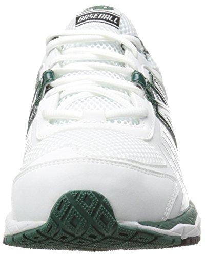 New Balance Men's T1000 Turf Low Baseball Shoe,Blue/Silver,12.5 D US White/Green