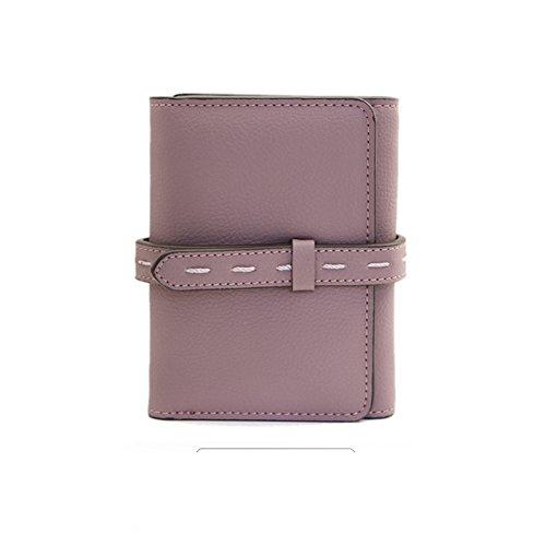 Portafoglio donna/Semplice tri-fold il portafoglio a breve/Fermasoldi/Giacca in pelle-E