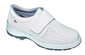 calzado: DIAN Milan SCL Picado SRC O1 Fo - Zapatos Sanitarios - Talla 38 - Blanco