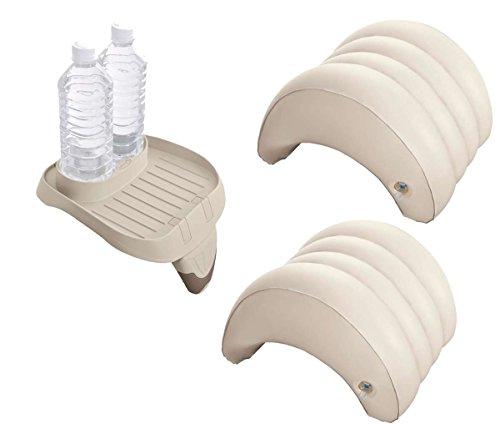 harren24 Intex Original Zubehör-Set 3-Teilig für PureSpa Whirlpools (1x Tablett 28500, 2X Kopfstützen 28501)