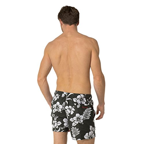 Tommy Hilfiger - Clyde 3 Color Flower Prt Trunk, Costume da bagno Uomo Oliva