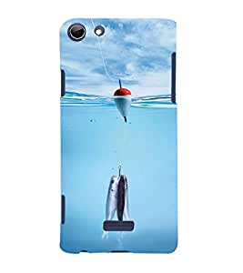 Vizagbeats Fishes and Bambaram Back Case Cover for Micromax Canvas Q348