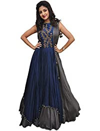 dba451d5199d RUDRA ZONE Women s Gown Free Size For Women s and girl s(RZ 2018  women s  Gown Semi Stichde