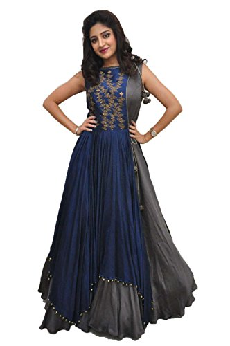 RUDRA ZONE Women\'s Gown Free Size For Women\'s and girl\'s(RZ_2018_ women\'s Gown Semi Stichde Free Size)