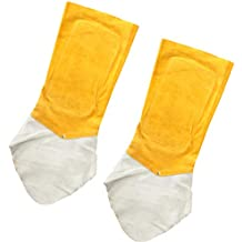 FLAMEER Polainas de Soldadura de Cuero Protector Cubierta Zapato Terminales Kits de Instalación Eléctrica