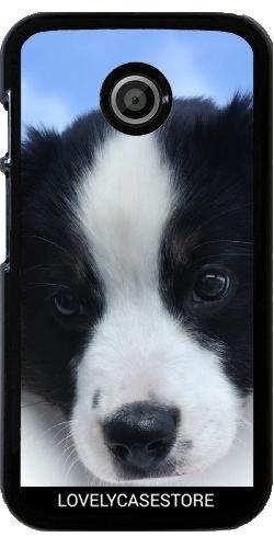Custodia per Motorola Moto E (Generation 1) - Cucciolo di cane pastore australiano Cane Cane (Australiano Moto)
