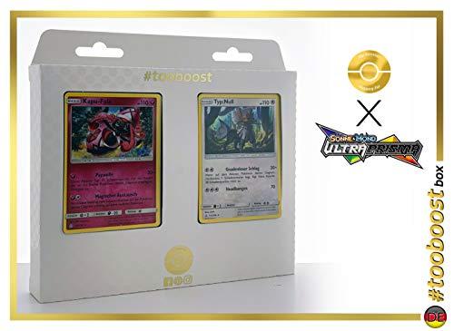 Kapu-Fala 94/156 & Typ:Null 115/156 - #tooboost X Sonne & Mond 5 Ultra-Prisma - Box mit 10 Deutsche Pokémon-Karten + 1 Pokémon-Goodie - Karten-packs 5 Pokemon