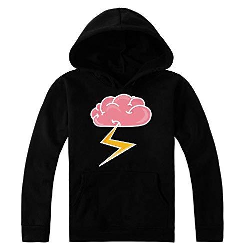 idcommerce Brain Releasing Lightning Bolt Kapuzenpulli für Damen Medium -