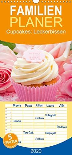 Cupcakes: Leckerbissen - Familienplaner hoch (Wandkalender 2020 , 21 cm x 45 cm, hoch): Kleine Kuchen - Süße Sünden (Monatskalender, 14 Seiten ) (CALVENDO Lifestyle) (Cupcake-kalender)