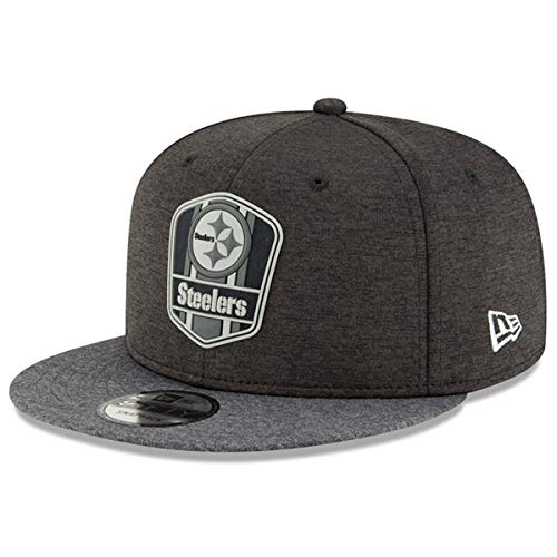 New Era Pittsburgh Steelers 9fifty Snapback NFL 2018 Sideline Graphite Graphite - M - L