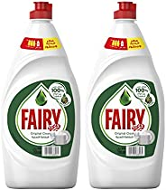 Fairy Original Dish Washing Liquid Soap Dual Pack 750ML Special Offer