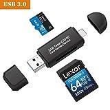 EiLife USB 3.0/Type-C Speicherkartenlesegerät,Externe SD Kartenlesegeräte,Micro SD Kartenleser