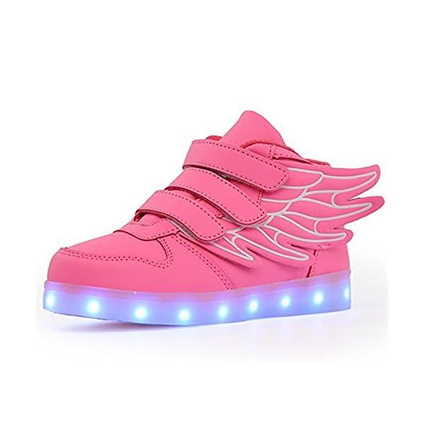 best service f625b d5f0f LED Schuhe Kinder Damen 7 Farbe USB Aufladen Leuchtend Sportschuhe LED  Kinder Farbwechsel Sneaker Turnschuhe für Herren Damen