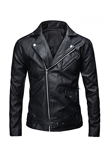 Low-cost Men's Classic Faux Leather Motorcycle Jacket. Ideal for Teminator 2 dress-up. XS to XXL