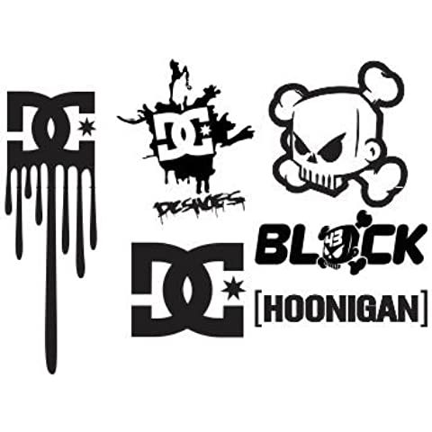1 Set Ken Block DC Shoes Hoonigan Aufkleber Sticker Decal Logo Die Cut Auto Car Motorrad Bike Laptop Heckscheibe Rockstar