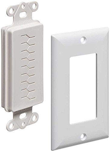 Arlington Industries CED130WP-10 Cable Entry Device with Slotted Cover and Wall Plate, 1-Gang, White, 10-Pack Test