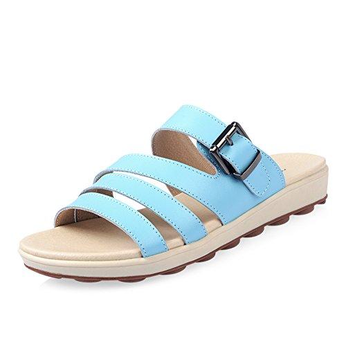 Fille de pantoufles plat/summer confort sandales/chaussures de femme enceinte/Casual extérieure sandales fashion feuillet étudiants C