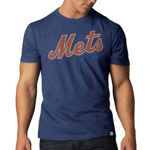 reputable site 78666 87efd 47 Brand New York Mets MLB Men's Scrum Premium Blue T-Shirt Chemise