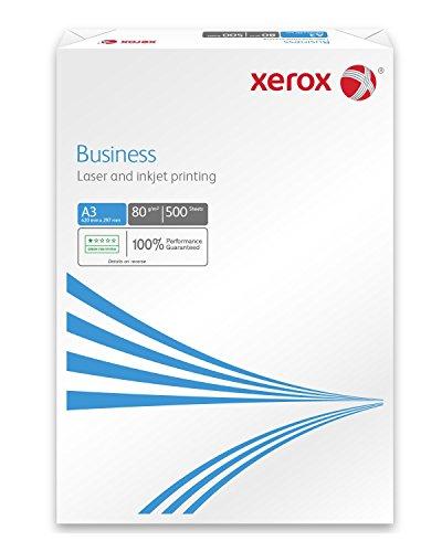 Xerox 003R91821 Business Kopierpapier, Druckerpapier, Universalpapier DIN A3 80 gr./m² 2.500 Blatt Karton mit 5 Pack - 500 Blatt, weiß