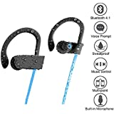 QC10 Wireless Sports Bluetooth Headset With Mic || Sweatproof Earbuds, Running, Gym || Active Noise Cancellation || Stereo Sound Quality With Bass || All Android/iOS Smartphone