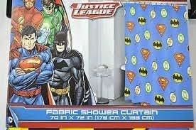 Franco DC Comic Justice League Shower Curtain Hooks Set Of 12 Amazoncouk Kitchen Home