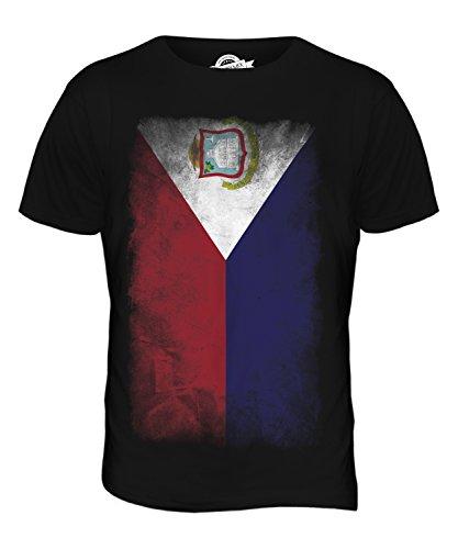 CandyMix St. Martin Verblichen Flagge Herren T Shirt Schwarz