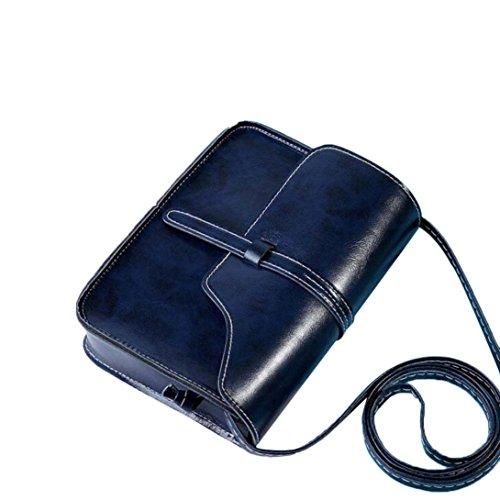 Rakkiss Vintage Geldbörse Leder Cross Body Schultertasche Messenger Bag Vintage Quaste Schultertasche Beige dunkelblau Einheitsgröße (Hand-taschen Unter 20 Dollar)