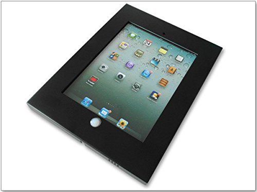 Supporto Tablet in Metallo adatto per iPad 2 3 4 Montaggio a parete VESA 100 Nero Modello: IS2B